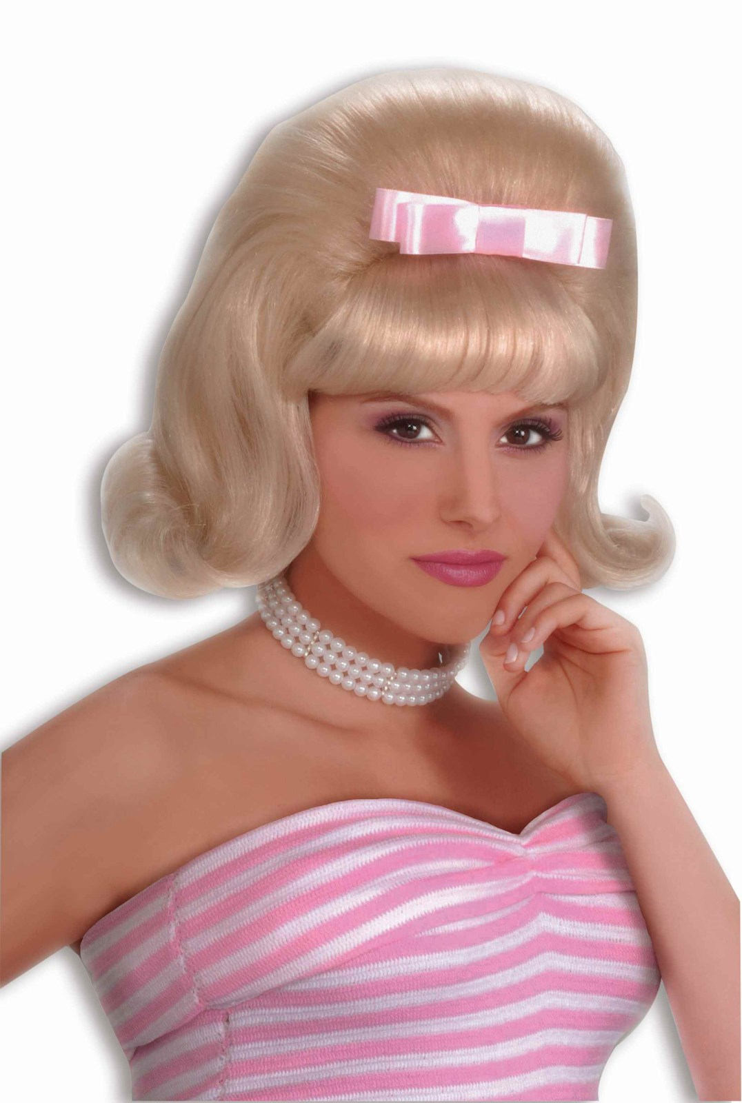 50s Style Bouffant Blonde Wig