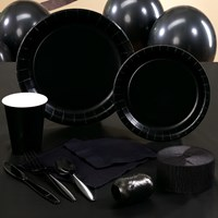 Black Velvet (Black) Party Supplies