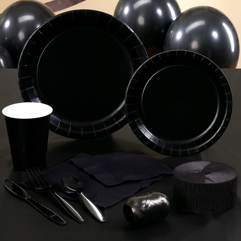 Black Halloween Party Supplies for the 2015 Costume season.