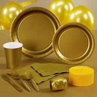 Glittering Gold (Gold) Party Supplies