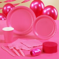 Candy Pink (Hot Pink) Party Supplies