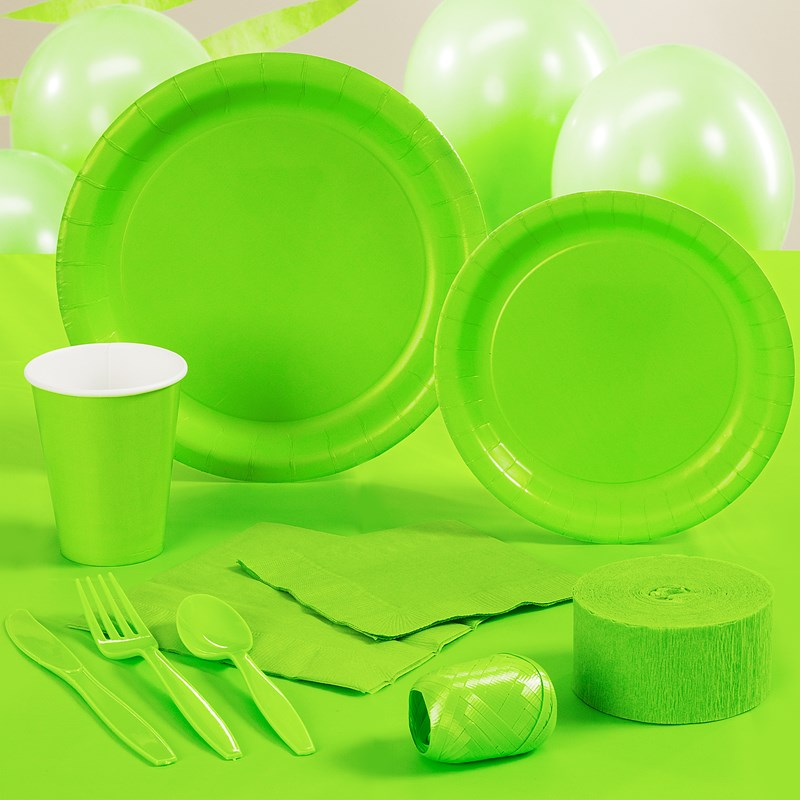 Lime Green Halloween Party Supplies for the 2015 Costume season.
