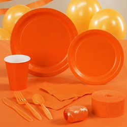 Sunkissed Orange (Orange) Deluxe Party Kit