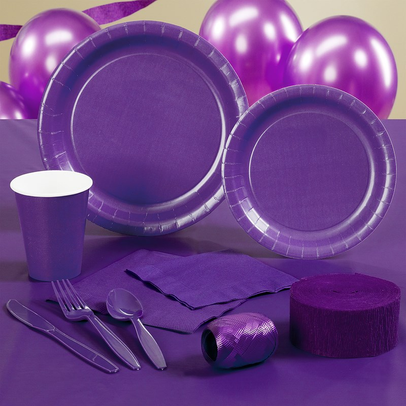 Purple Halloween Party Supplies for the 2015 Costume season.