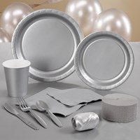Shimmering Silver (Silver) Party Supplies
