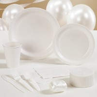 Bright White (White) Party Supplies