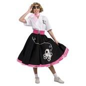 50s Black Poodle Adult Skirt
