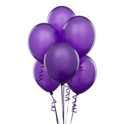 Perfect Purple (Purple) Latex Balloons (6 count)