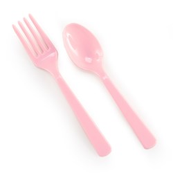 Pink Forks Spoons (8 each)