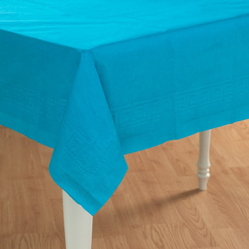 Turquoise Paper Tablecover for the 2015 Costume season.