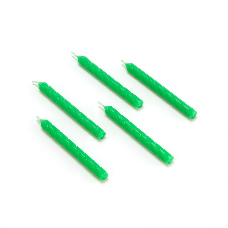 Candles   Green (16 count) for the 2015 Costume season.