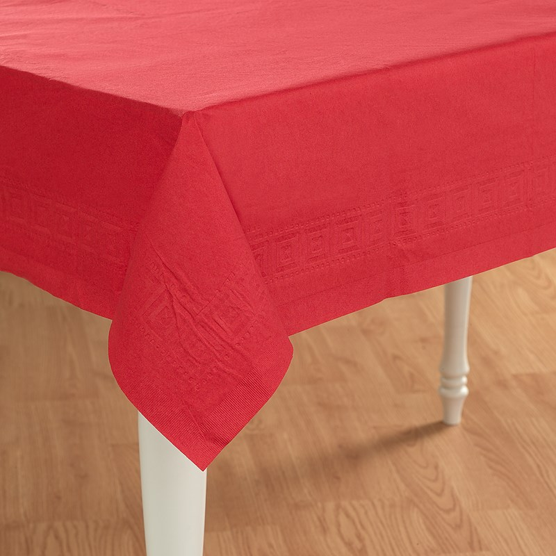 Classic Red (Red) Paper Tablecover for the 2015 Costume season.