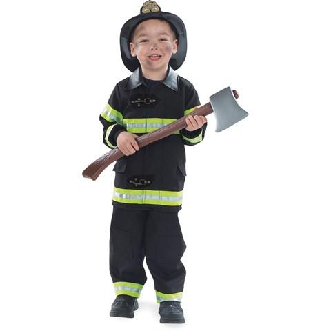 Firefighter Black Child Costume
