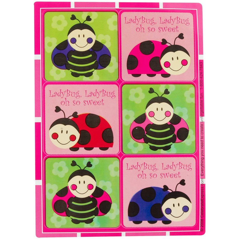 Ladybugs: Oh So Sweet Sticker Sheets for the 2015 Costume season.