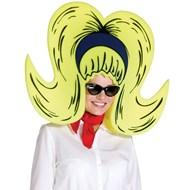Foam Bouffant Wig/Hat yellow