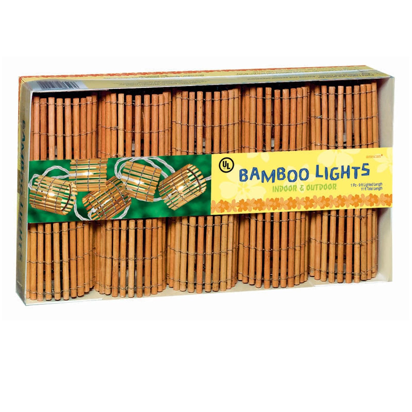 "Image of 11"" Bamboo Barrel String Lights"
