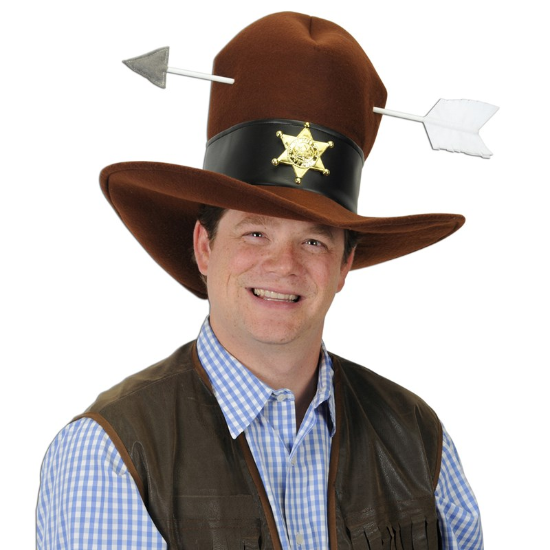Western Plush Hat with Arrow for the 2015 Costume season.