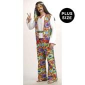 Hippie Man Adult Plus Costume