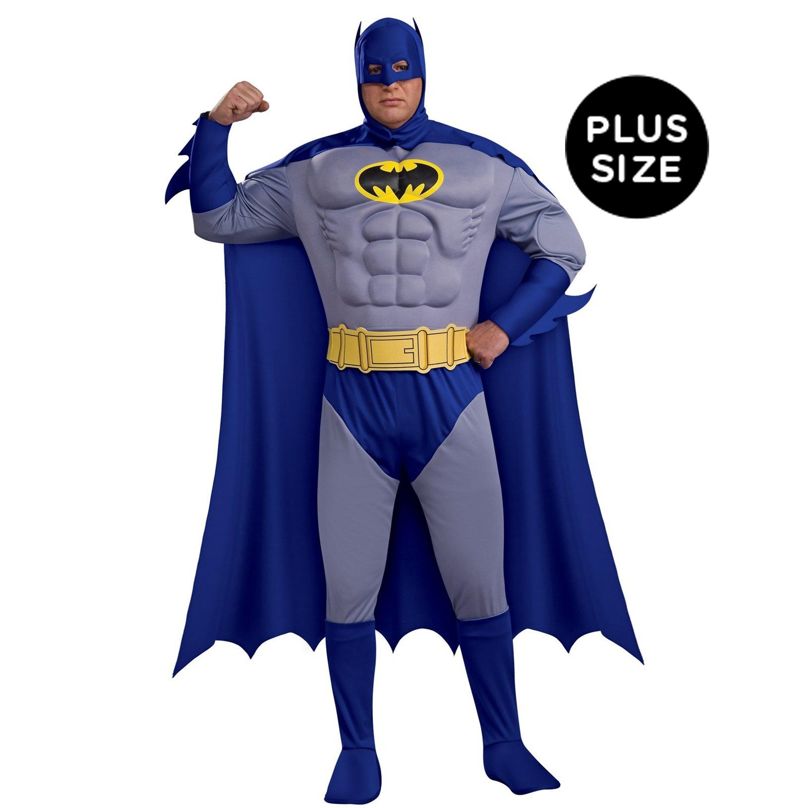 Batman Brave Bold Deluxe Muscle Chest Adult Plus Costume
