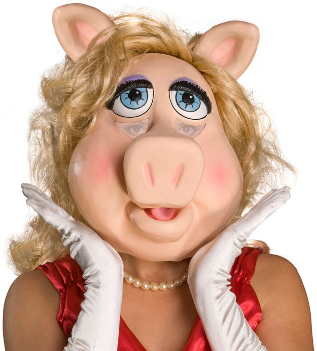 Image of The Muppets Ms. Piggy Deluxe Overhead Latex Mask Adult