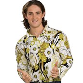 Feeling Groovy Shirt (Green) Adult Costume