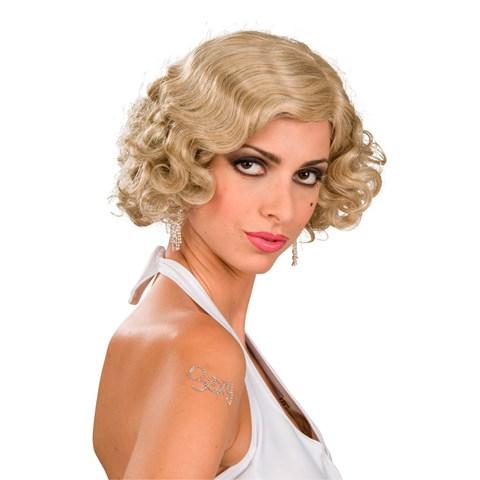 Flapper Wig Adult (Blonde)