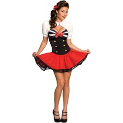 Rubies Costumes Adult Secret Wishes Naval Pinup Adult Costume- Blue: Small