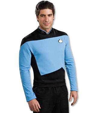 Star Trek Next Generation Blue Shirt Deluxe Adult Costume