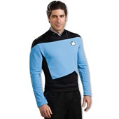 Star Trek Next Generation Blue Shirt Deluxe Adult