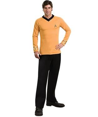 Star Trek Classic Gold Shirt Deluxe Adult Costume