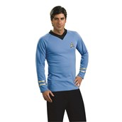 Star Trek Classic Blue Shirt Deluxe Adult Costume