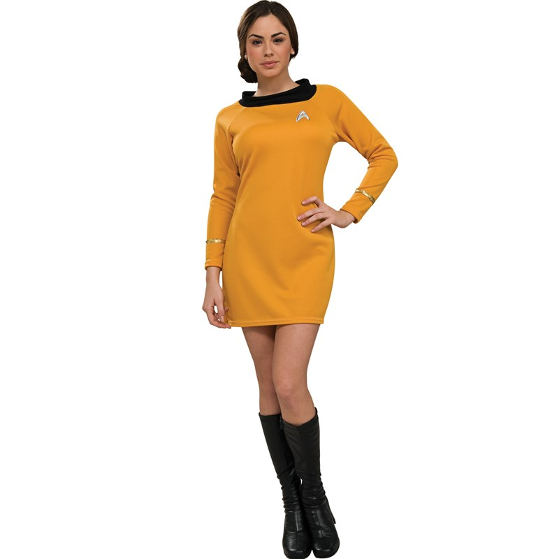 Star Trek Classic Gold Dress Deluxe Adult Costume for the 2015 Costume season.