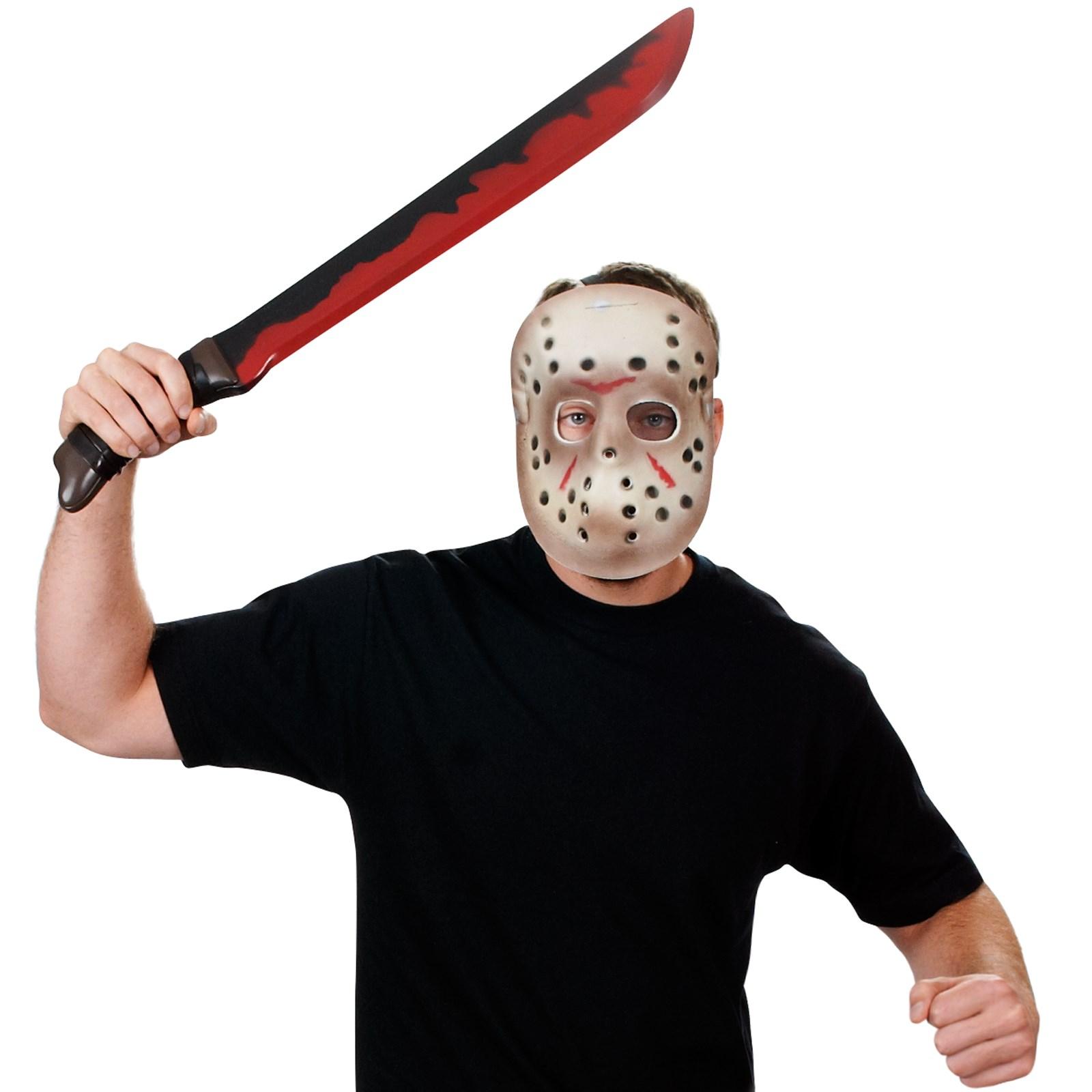 Image of Friday the 13th Jason Mask Machete Set