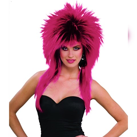 80's Purple Pizazz Adult Wig