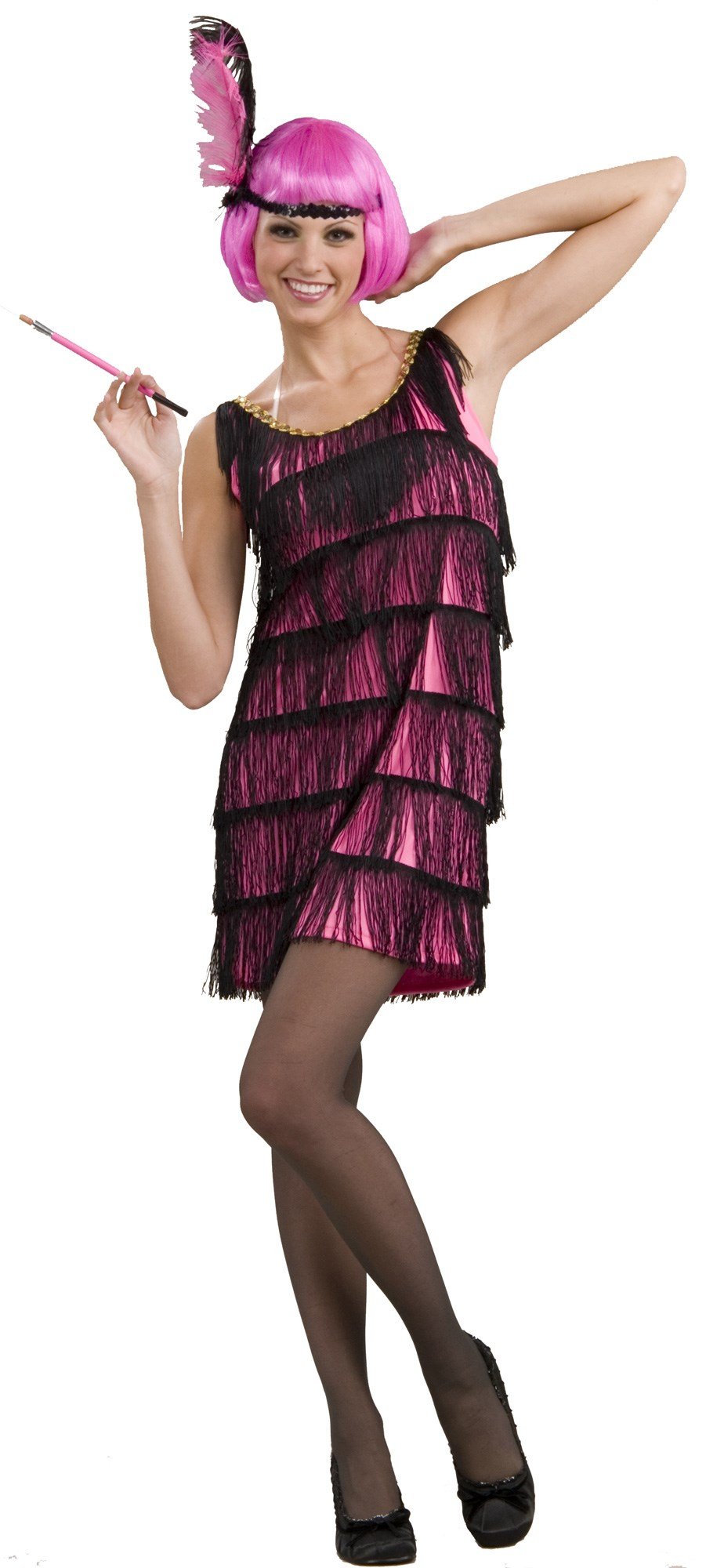 Image of 20's Pink Flapper Adult Costume