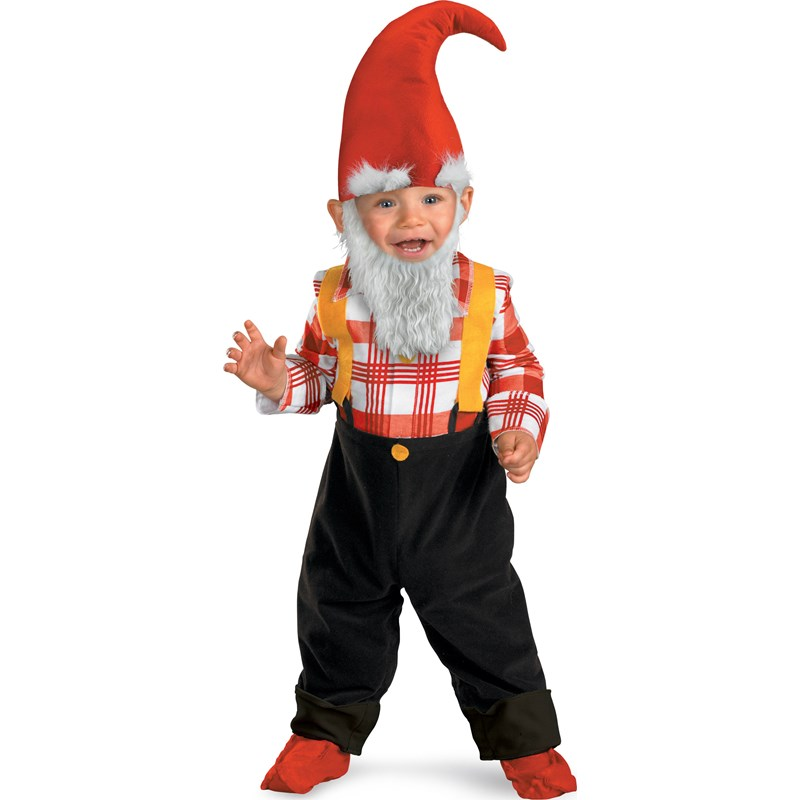 Garden Gnome Infant  and  Toddler Costume for the 2015 Costume season.