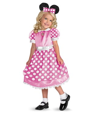 Disney Clubhouse Minnie Mouse Pink Toddler / Child Costume