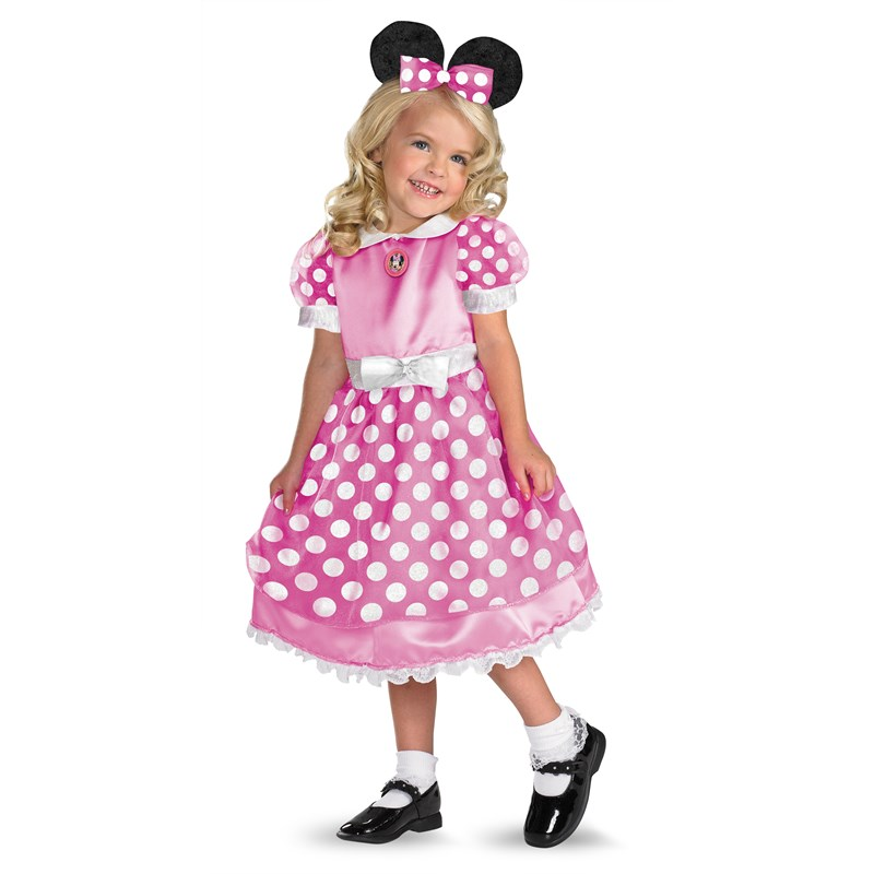 Disney Clubhouse Minnie Mouse (Pink) Toddler  and  Child Costume for the 2015 Costume season.