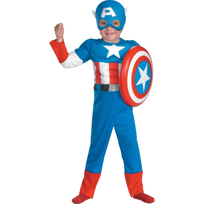 Captain America Muscle Toddler Costume for the 2015 Costume season.