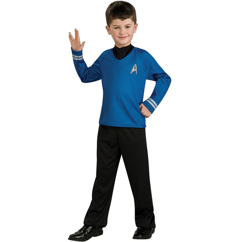 Star Trek Movie (Blue) Shirt Child Costume for the 2015 Costume season.
