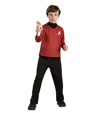 Star Trek Movie Deluxe Red Shirt Child Costume