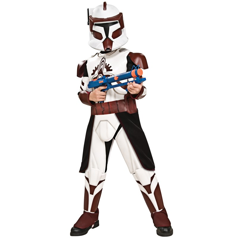 Star Wars Clone Wars Deluxe Commander Fox Child Costume for the 2015 Costume season.