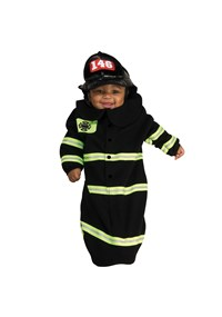 Click Here to buy Firefighter Deluxe Bunting Baby Costume from BuyCostumes