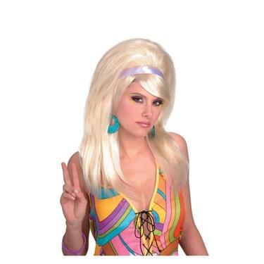 60s Mod Blonde Wig Adult