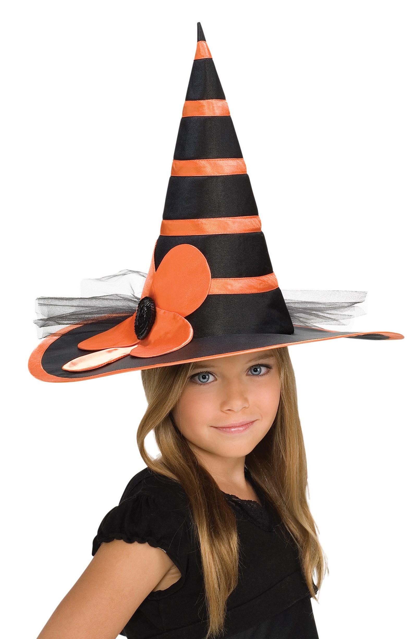 Child Orange Witch Hat