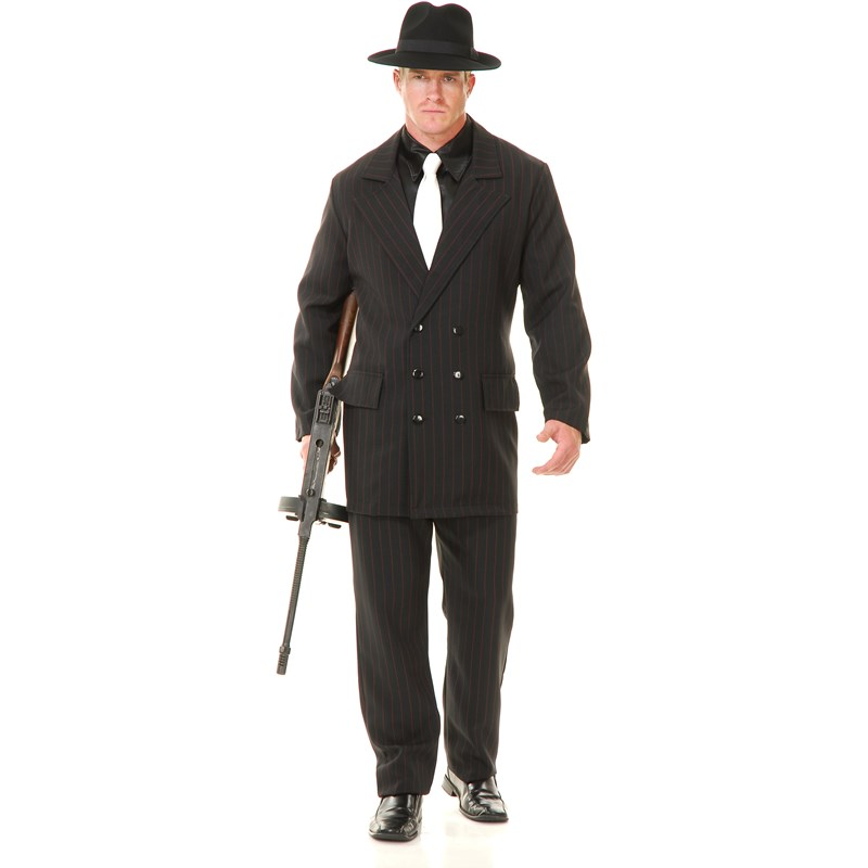 Gangster Double Breasted Suit (Black and Red) Adult Costume for the 2015 Costume season.
