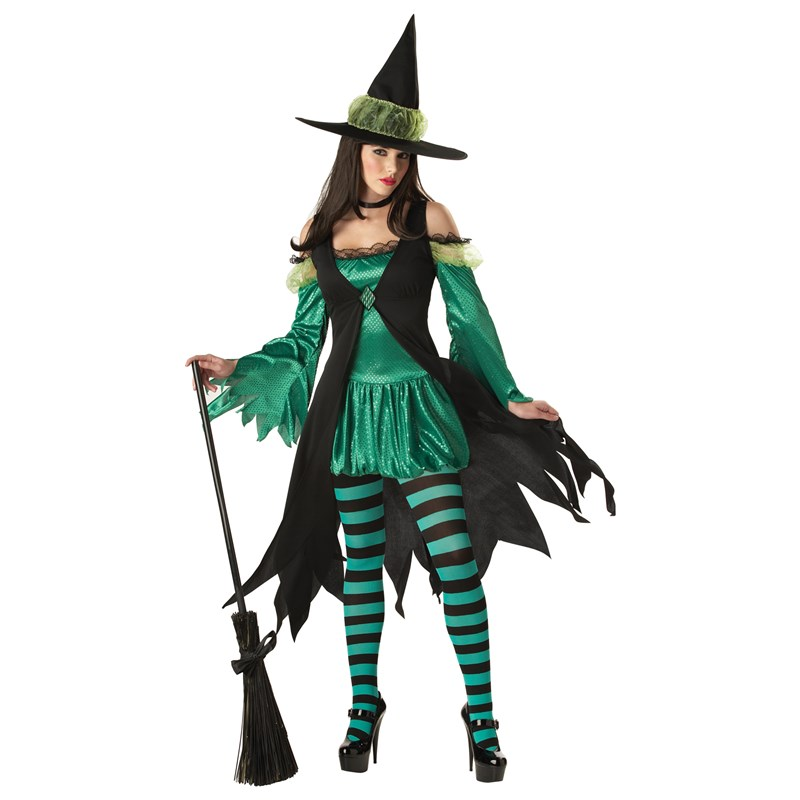 Emerald Witch Adult Costume for the 2015 Costume season.