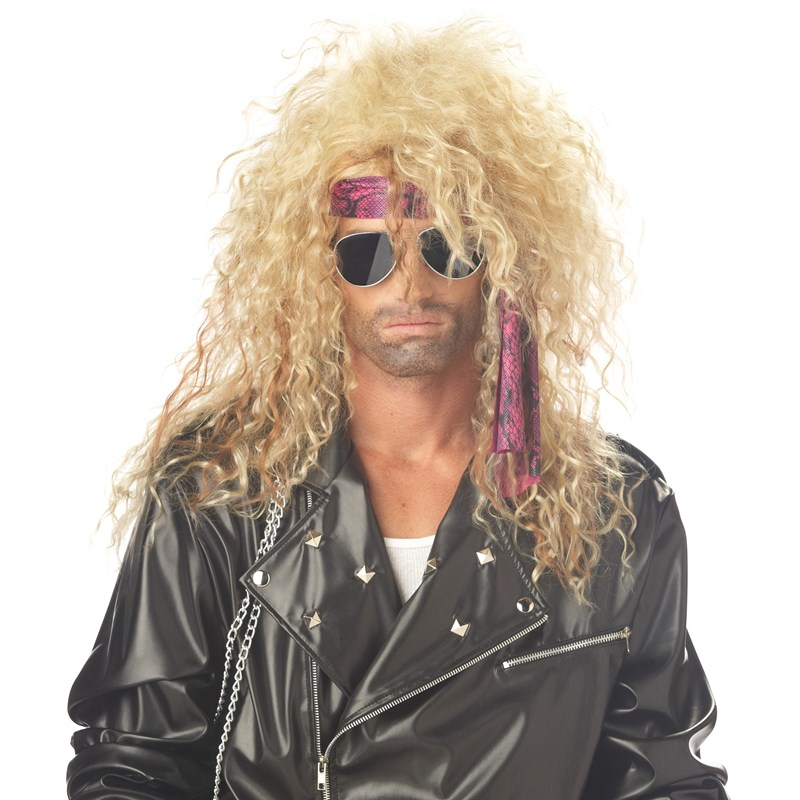 Heavy Metal Rocker Blonde Adult Wig for the 2015 Costume season.