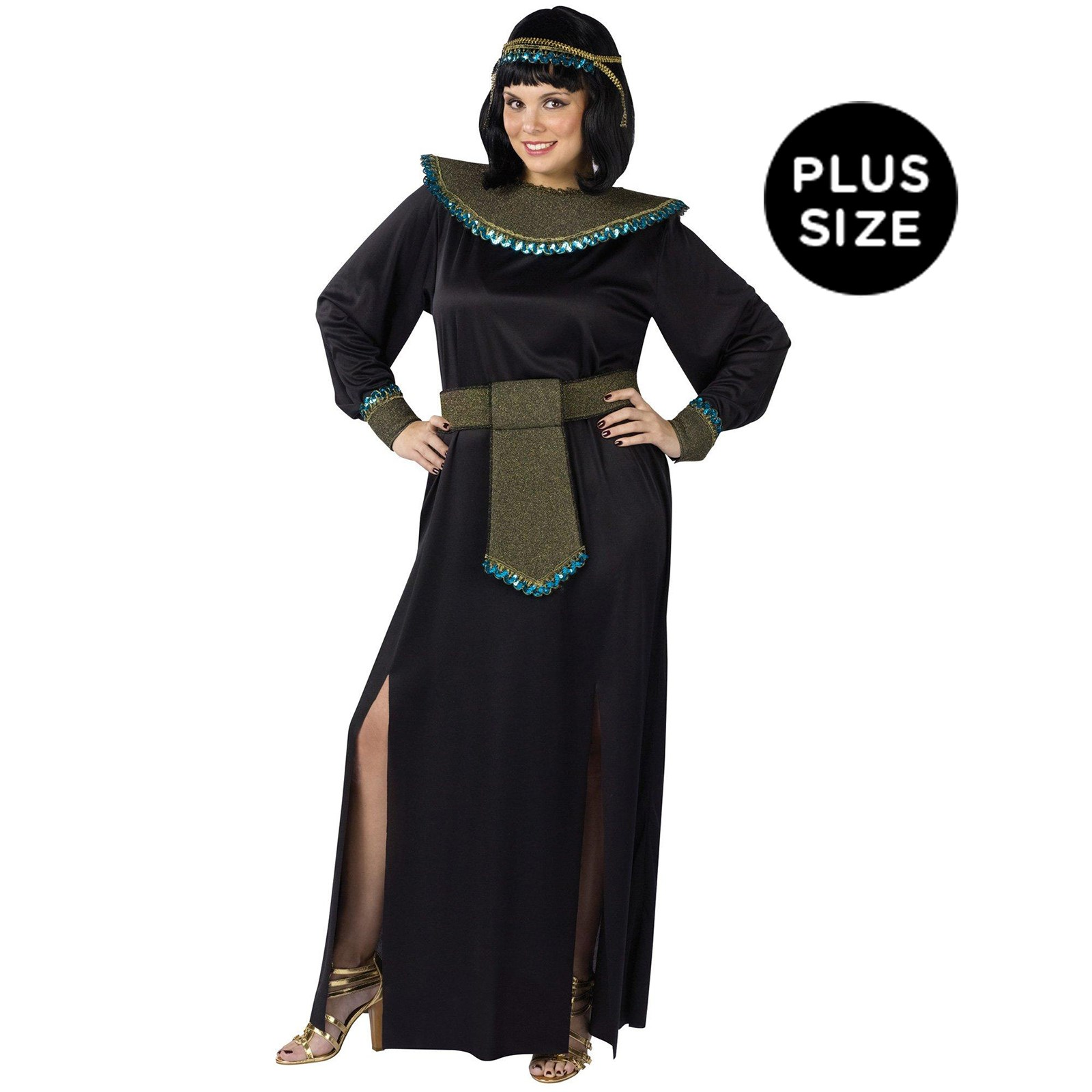 Image of Black/Gold Cleopatra Adult Plus Costume