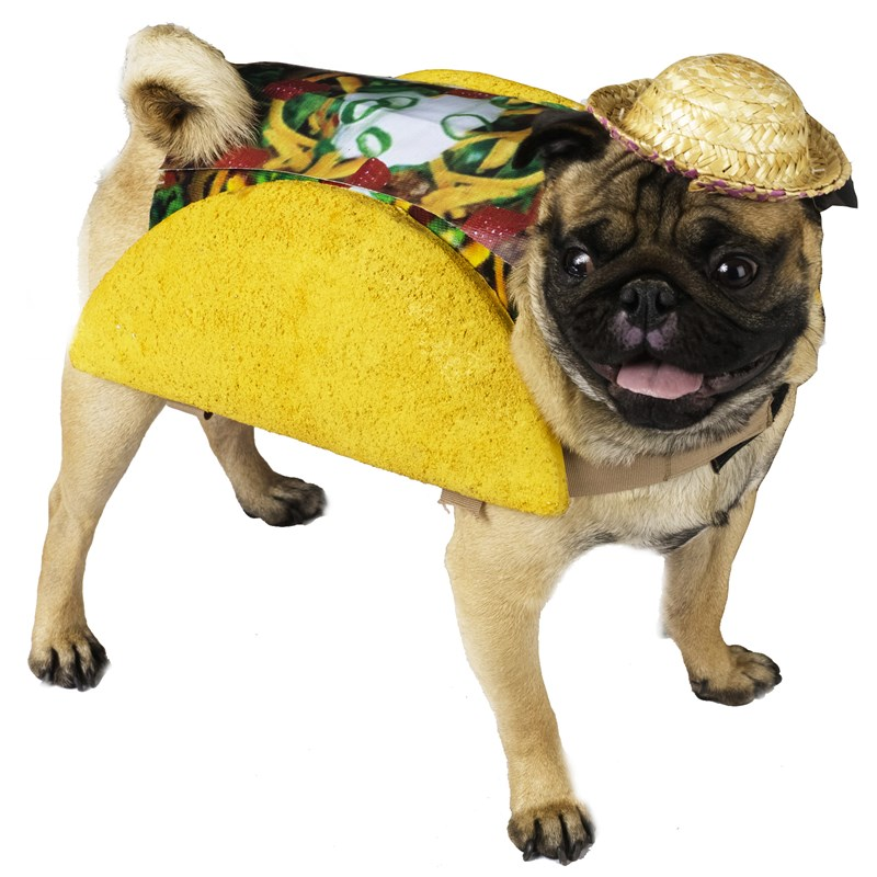 Taco Pet Food Dog Costume for the 2015 Costume season.